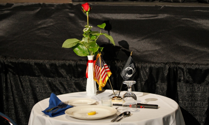 POW MIA Table Setting
